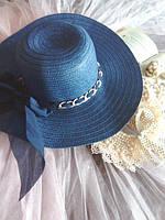 "Женская шляпа ""Кристина"" темно-синий"