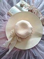 """Женская шляпа """"Кристина"""" бежевый"""