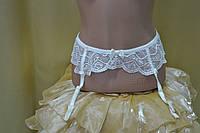 Пояс для чулок античечкий белый AVGUSTA от ТМ Kleo, фото 1