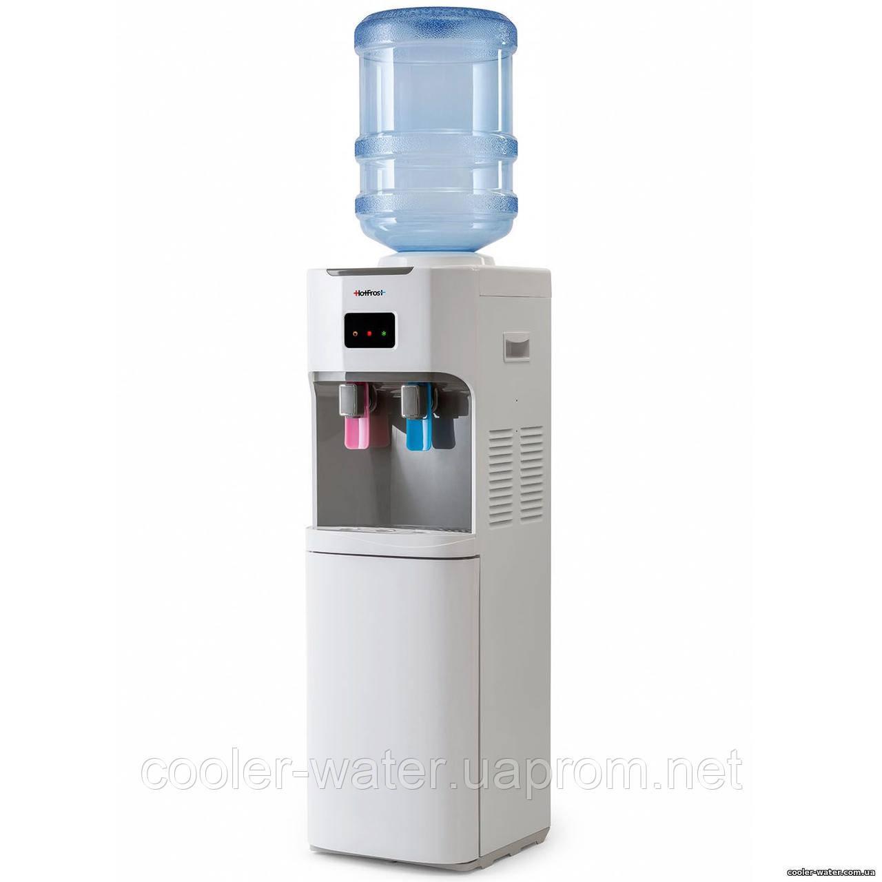Кулер для воды с холодильником HotFrost V115B White