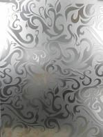 Стекло Шали Дамас бесцветный  (травленое)