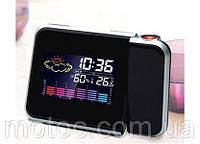 Часы метеостанция с проектором времени жидкокристаллические TABLE CLOCK. Проектор часы