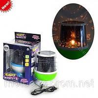 Ночник-проектор Night light детский вращающийся звездное небо(star master)