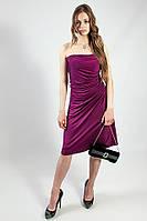 Платье женское вечернее коктельное выпускное сиреневое фиолетовое без бретелей рS L Lussilo S