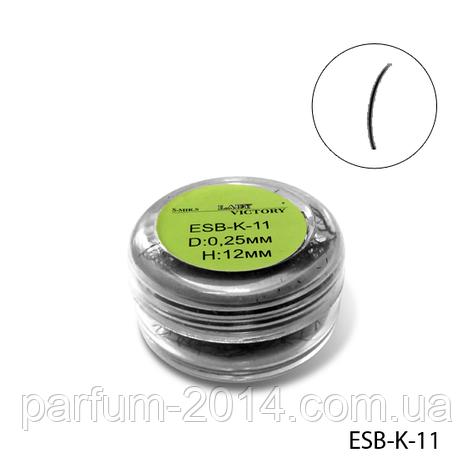 Ресницы в банках ESB-K-11 (диаметр: 0,25 мм, длина: 12 мм), , фото 2
