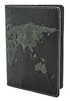 """Обложка для паспорта VIP ( зеленый) тиснение """"WORLD MAP"""", фото 1"""