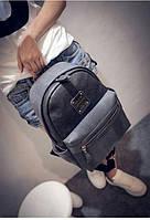 Рюкзак женский фактурная кожа (серый) , фото 1