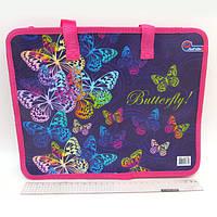 "Сумка с ручками ""Butterfly"", фиолет., 26х32 см"