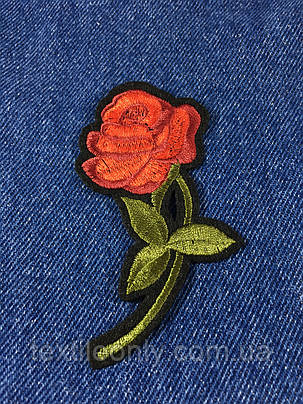 Нашивка Роза цвет красный, фото 2