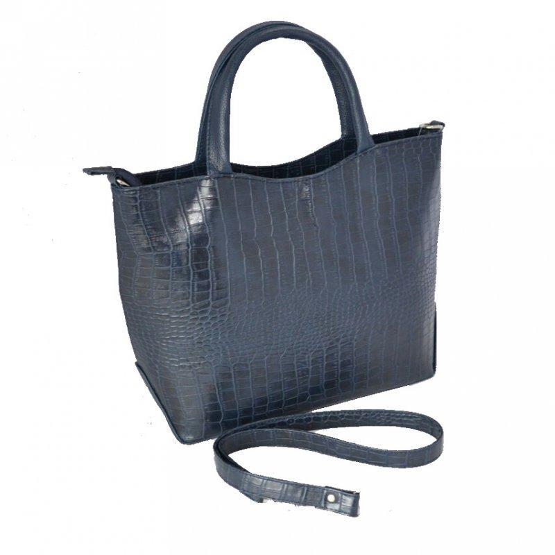 6177e19bda91 Синяя деловая сумка М75-11/39 женская под крокодила - Интернет магазин  сумок SUMKOFF
