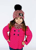 Детская шапка ЛИБЕРТИ (набор) для девочек оптом размер 48 и 52, фото 1