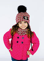 Детская шапка ЛИБЕРТИ (набор) для девочек оптом размер 48- 50- 52