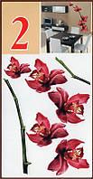 Наклейка, цветы, орхидеи,  интерьерная Декор
