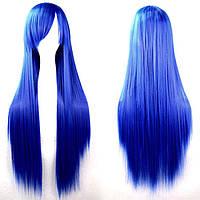 Парик искусственный синий 80 см