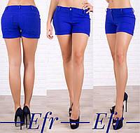 Летние джинсовые шорты с карманами на попе