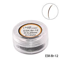 Ресницы в банках ESK-Br-12 цветные (диаметр: 0,25 мм, длина: 14 мм, цвет коричневый),