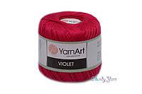 Мерсеризованный хлопок 100% Yarnart Violet №6358 азалия