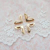 Уголки для альбомов розовое золото, 23*16 мм