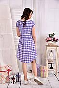 Женское легкое платье в клетку на лето 0553 размер 42-74, фото 2