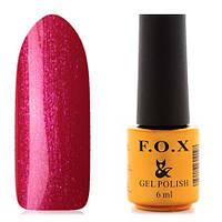 Гель-лак F.O.X  6 мл pigment №057 (малиновый с розовыми блестками)