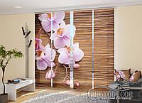 """Японские фотошторы """"Орхидея и дерево"""" 2,40*2,40 (4 панели по 60см)"""