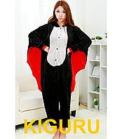 Пижама кигуруми костюм хеллоуин летучая мышь  S (150-160cm), Фланель