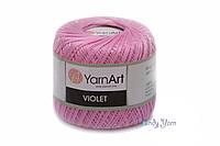 Мерсеризованный хлопок 100% Yarnart Violet №5046 нежно розовый