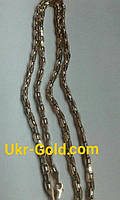Золотая цепь якорь с шариками