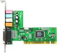 Звуковая карта внутренняя C-Media M-CMI8738-6CH (PCI, 6 каналов (5.1), MIDI, выход на микрофон