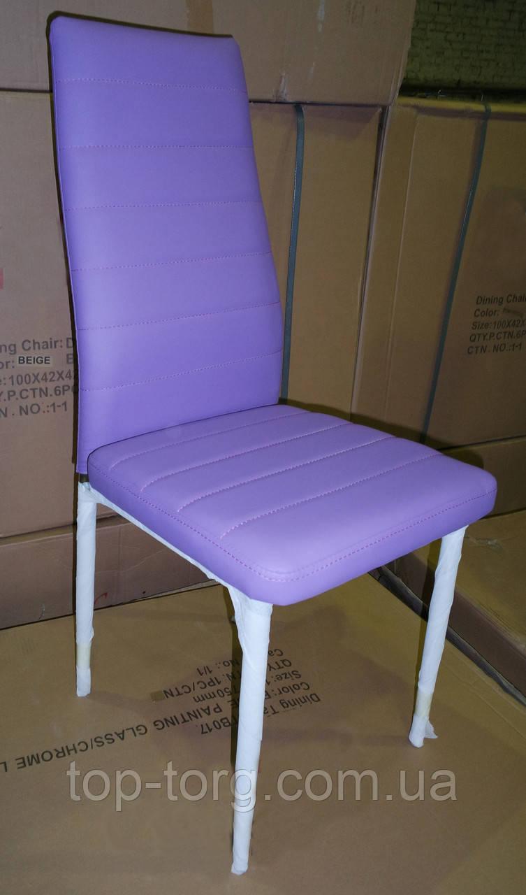 Cтул металлический С14 фиолетовый, ноги хром