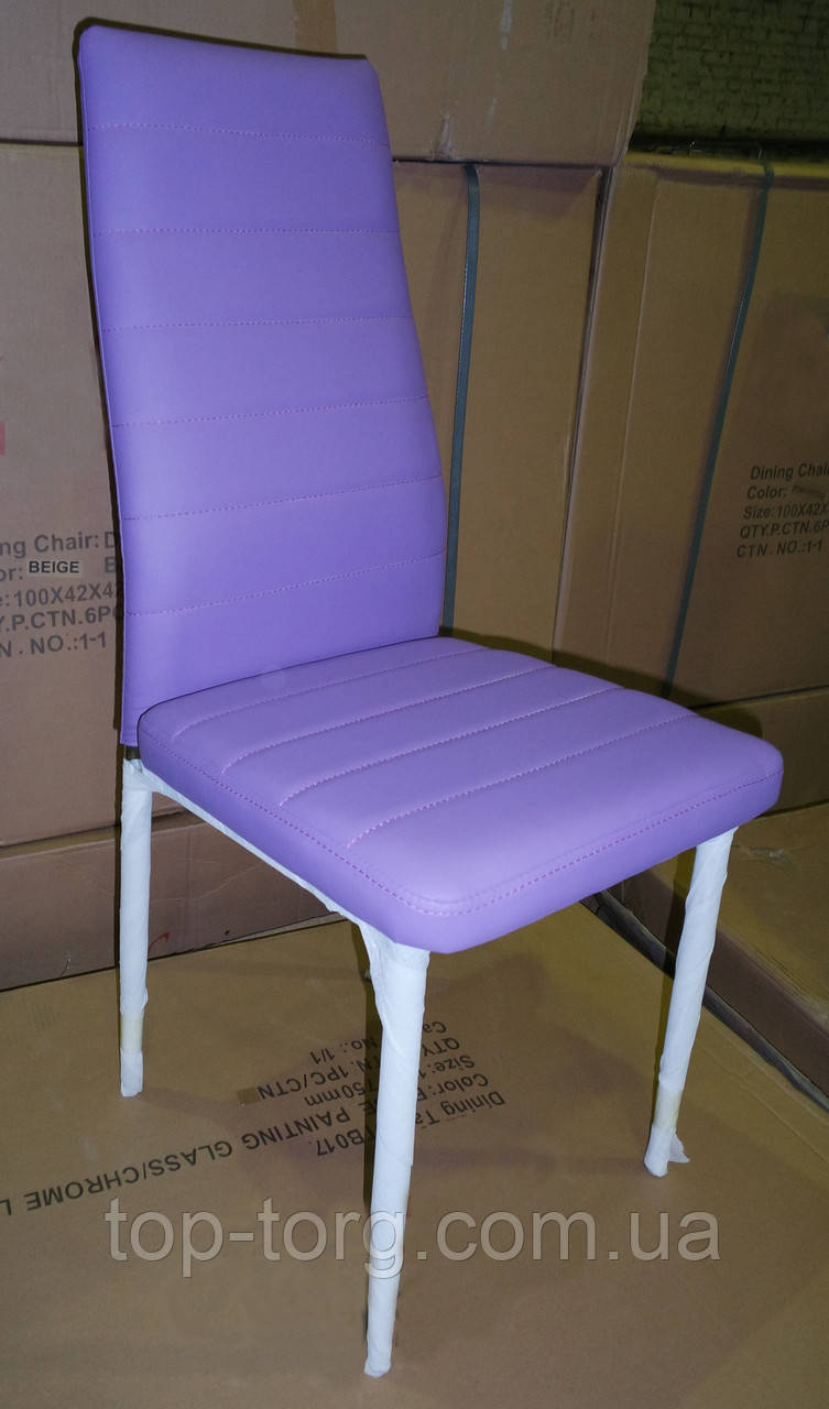Стілець металевий С14 фіолетовий, ноги хром