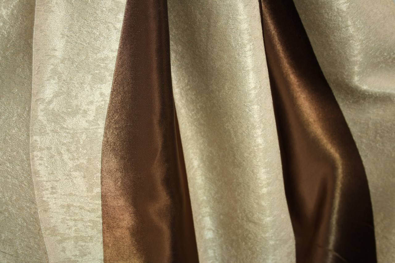 Двусторонние шторы Blackout Полоска коричневый+беж
