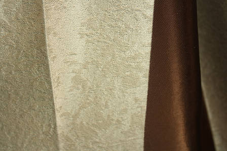 Двусторонние шторы Blackout Полоска коричневый+беж, фото 2