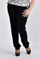 До 74 размера, Женские летние легкие брюки чёрные 77026