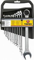 Topex Ключи комбинированные, 6-22 мм, набор 12 шт.