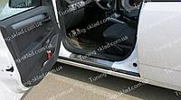 Накладки на пороги Opel Astra H 5D (накладки порогов Опель Астра H 4d/5d)