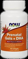 Пренатал капсулы + DHA / NOW - Prenatal Gels + DHA (90 softgel)