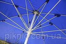 Зонт торговый 3 м. Металлические спицы. Усиленный. Прорезиненная ткань. Зонт для торговли на улице!, фото 3