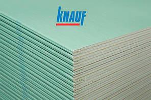 Гипсокартон влагостойкий стеновой KNAUF (Кнауф) ГП 12,5х1,2х2,5
