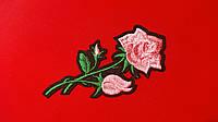 Аппликация (термо)  мал. розы 3 бутона  розов. 10х4,8 см