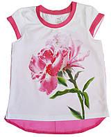Футболка детская на девочку розовая  ТМ Фламинго 116 122 128