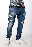 Мужские рваные джинсы Zara. Новинка 2017