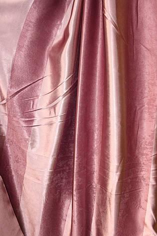 Двусторонние шторы Blackout Полоска в розовом цвете, фото 2