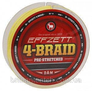 Шнур DAM Effzett 4-BRAID 125м 0,08мм 3,7кг (yellow)
