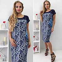 Летнее повседневное  платье на женщину с коротким рукавом, фото 1
