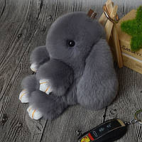 Мягкий кролик - брелок на сумку
