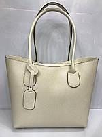5a5a4ee0170e Женская сумка Vera Pelle 2287 классическая из натуральной кожи в бежевом  цвете Италия