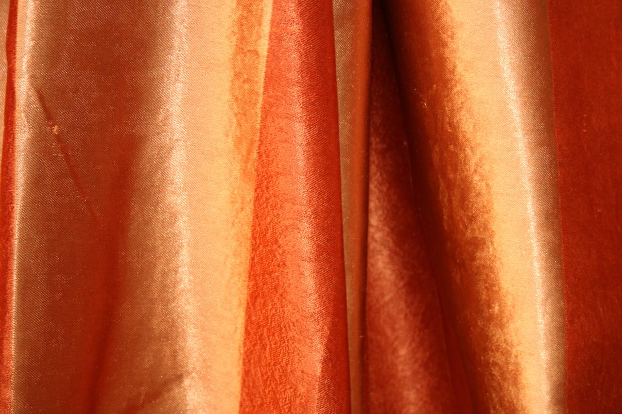 Двосторонні штори Blackout Смужка помаранчевий+теракот