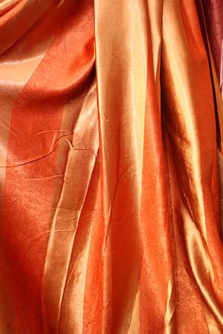 Двосторонні штори Blackout Смужка помаранчевий+теракот, фото 2