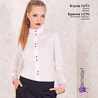 Блуза белая с воротником